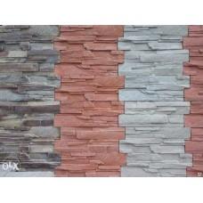 Камень облицовочный. Размер 49*19*2.  Цвет : красный, желтый, коричневый,черный,оранжевый,серый