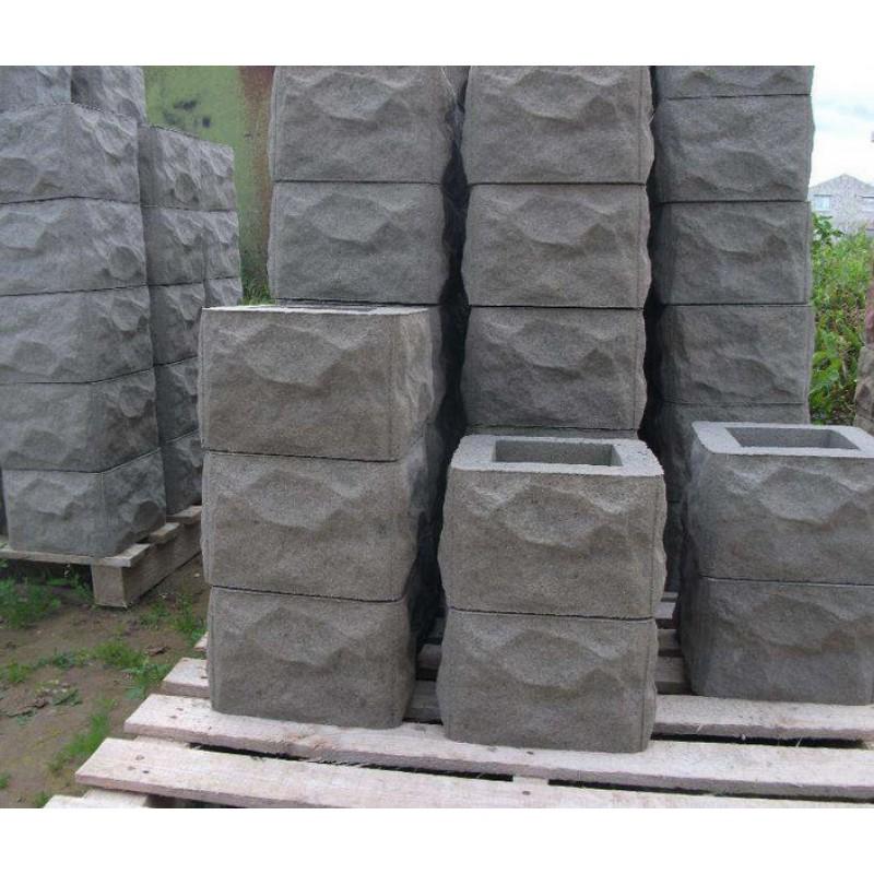 Наборные столбы из бетона для забора купить в цементный раствор добавить золу