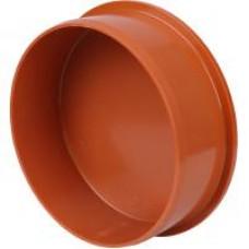 Заглушка для канализации трубы 110, рыжая